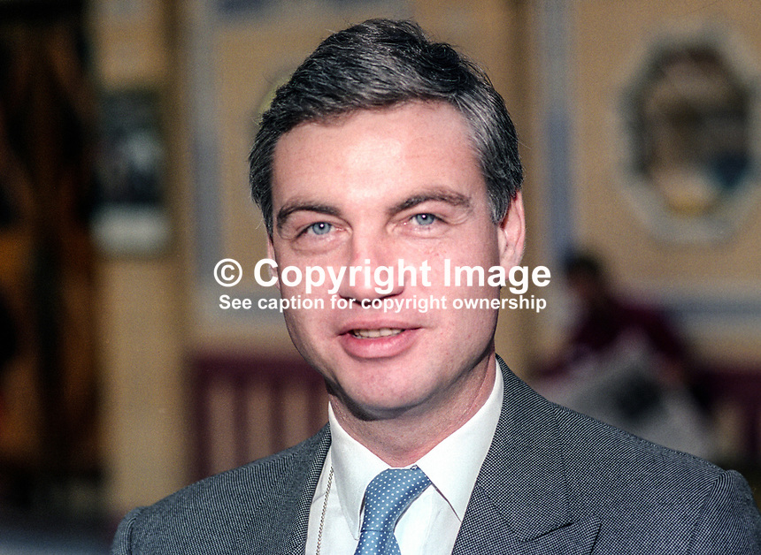 David Burnside, poliltician, Ulster Unionist, former head, public relations, British Airways, October 1993, 1993103962<br />
