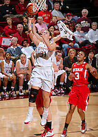 STANFORD, CA - January 25, 2013: Stanford Cardinal's Toni Kokenis during Stanford's 65-44 victory over the Utah at Maples Pavilion in Stanford, California.
