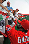 21 June 2008: Washington Nationals' infielder Cristian Guzman signs autographs prior to facing the Texas Rangers at Nationals Park in Washington, DC. The Nationals fell to the Rangers 13-3 in the second game of their 3-game inter-league series...Mandatory Photo Credit: Ed Wolfstein Photo
