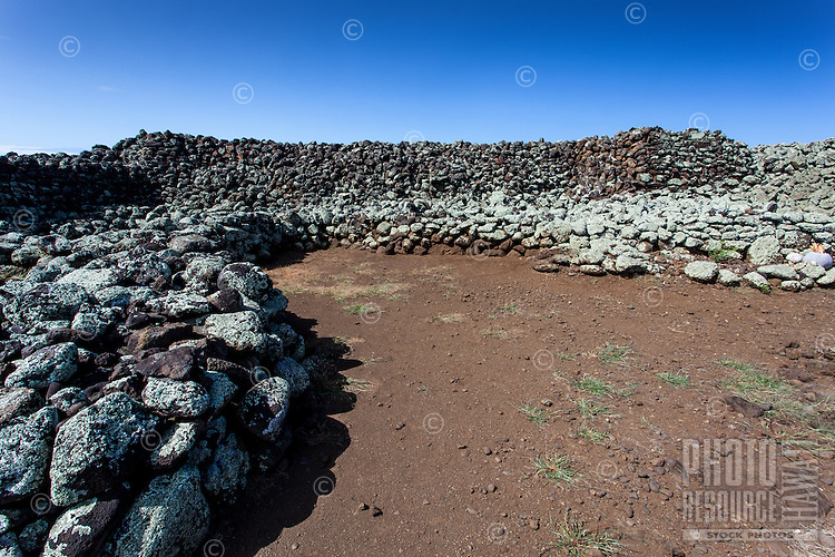 Mo'okini Heiau, a national historic landmark on the Big Island.
