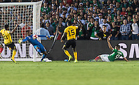 Pasadena, CA - Thursday June 09, 2016: Andre Blake during a Copa America Centenario Group C match between Mexico (MEX) and Jamaica (JAM) at Rose Bowl Stadium.