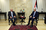 Palestinian Prime Minister Rami Hamdallah meets with Qatar's Ambassador to the Palestinian Authority, Mohammed Al Emadi in the West Bank city of Ramallah, on May 3, 2018. Photo by Prime Minister Office