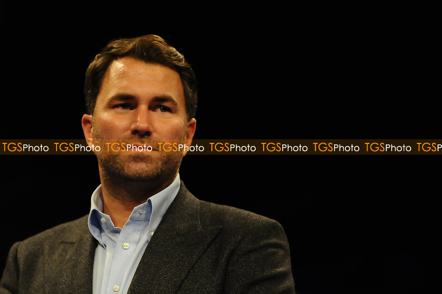 Match room Boxing supremo Eddie Hearn during a Boxing Show at the Metro Radio Arena on 13th October 2018