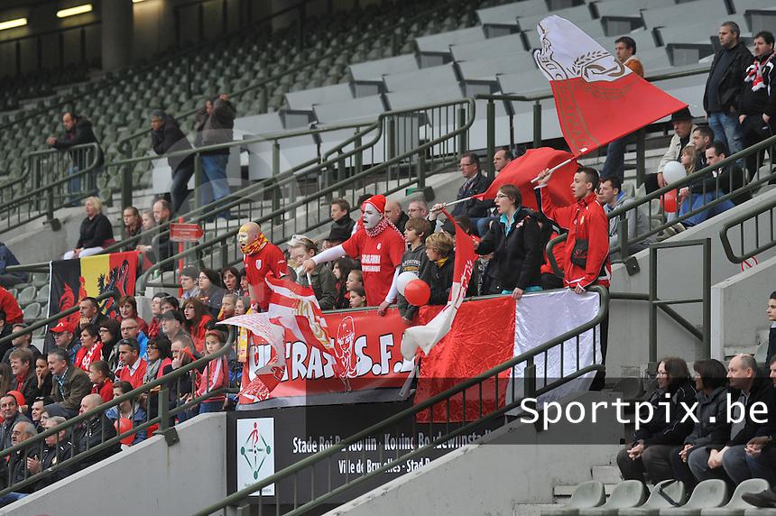 RSC Anderlecht Dames - Standard Femina de Liege : .supporters Standard Femina SFL.foto JOKE VUYLSTEKE / Vrouwenteam.be