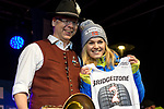 09.03.2018, Rathausplatz, Sonthofen, GER, Slalom Weltcup in Ofterschwang, im Bild Startnummerauslosung mit Nina Haver-Loeseth (NOR, #2)<br /> <br /> Foto &copy; nordphoto / Hafner
