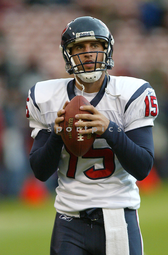 Dave Ragone, of the Houston Texans, in action  during thier game against the San Francisco 49ers on January 1, 2006...49ers win 20-17...Rob Holt / SportPics