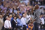07 April 2014: The National Anthem is performed before the University of Kentucky takes on the University of Connecticut during the 2014 NCAA Men's DI Basketball Final Four Championship at AT&T Stadium in Arlington, TX. Connecticut defeated Kentucky 60-54 to win the national title. Peter Lockley/NCAA Photos