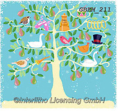 Kate, CHRISTMAS SYMBOLS, WEIHNACHTEN SYMBOLE, NAVIDAD SÍMBOLOS, paintings+++++Christmas page 78,GBKM211,#xx#