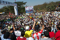 Nice crowd turnout for first stage race in Indian history.