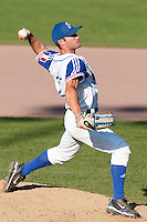 31 July 2010: Joris Bert of Team France pitches against Greece during the Greece 14-5 win over France, at the 2010 European Championship, in Heidenheim, Germany.