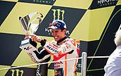 June 11th 2017, Barcelona Circuit, Montmelo, Catalunya, Spain; MotoGP Grand Prix of Catalunya, Race Day; Marc Marquez of Repsol Honda Motogp Team celebrates his 2nd place