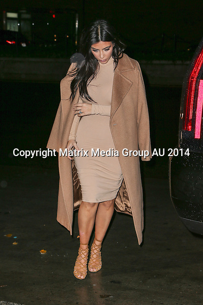 9 DECEMBER 2014 NEW YORK CITY<br /> <br /> NON EXCLUSIVE<br /> <br /> Kim Kardashian pictured arriving back at her apartment.