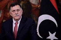 Roma, 26 Luglio 2017<br /> Il primo ministro libico Fayez al-Sarraj a Palazzo Chigi durante l'incontro con il Premier italiano