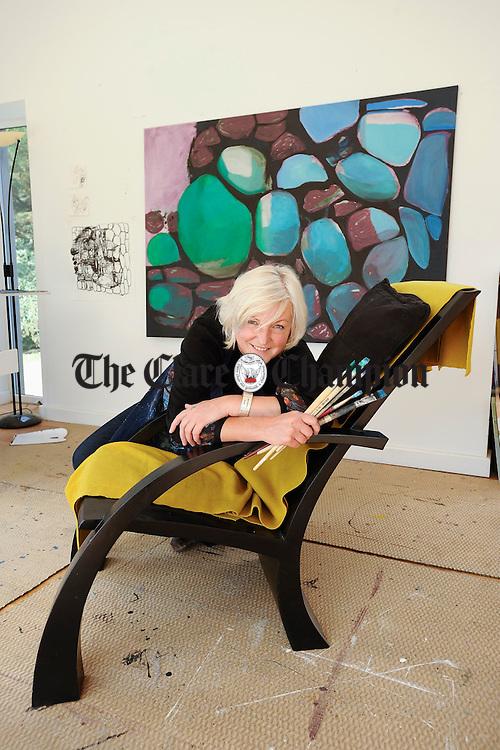 Artist Trudy Van Der Elsen. Photograph by John Kelly.