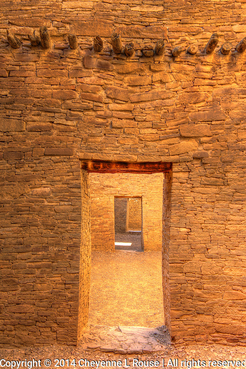 Chaco Door & Vigas - New Mexico - Chaco Canyon National Historic Park