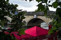 Henley-on-Thames. United Kingdom.  General View, Henley Bridge.  2017 Henley Royal Regatta, Henley Reach, River Thames. <br /> <br /> <br /> 09:37:28  Friday  30/06/2017   <br /> <br /> [Mandatory Credit. Peter SPURRIER/Intersport Images.