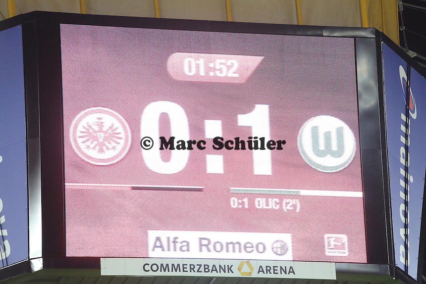 Schon nach zwei Minuten steht es 0:1 - Eintracht Frankfurt vs. VfL Wolfsburg, Commerzbank Arena