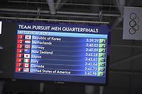 OLYMPIC GAMES: PYEONGCHANG: 18-02-2018, Gangneung Oval, Long Track, Team Pursuit Men, Results Quarterfinals, ©photo Martin de Jong