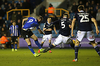 Steven Fletcher of Sheffield Wednesday takes a shot at the Millwall goal during Millwall vs Sheffield Wednesday, Sky Bet EFL Championship Football at The Den on 12th February 2019