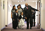 Nevada Assemblyman William Horne, D-Las Vegas, takes family members on a tour of the Legislature in Carson City, Nev. on Monday, Feb. 7, 2011. State lawmakers convened the 76th regular Legislative session on Monday. Family members, from left middle, include Horne's daughter Kayla Fields, friend Jasmine Gibson, 13, and front row from left, son Henry, 7, and daughter Chloe, 5. .Photo by Cathleen Allison
