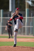 Cleveland Indians relief pitcher Cameron Mingo (53) during a Minor League Spring Training game against the San Francisco Giants at the San Francisco Giants Training Complex on March 14, 2018 in Scottsdale, Arizona. (Zachary Lucy/Four Seam Images)