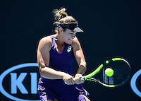 Jennifer Brady of the USA in action during Day Four of the Australian Open Tennis Championships held in Melbourne Park, Australia on 19th January 2017