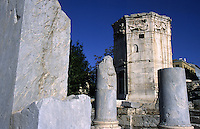 01 NOV 2003 - ATHENS, GREECE - The Tower of the Winds, Aerides in Greek, which served as a combined water clock and weather vane. (PHOTO (C) NIGEL FARROW)