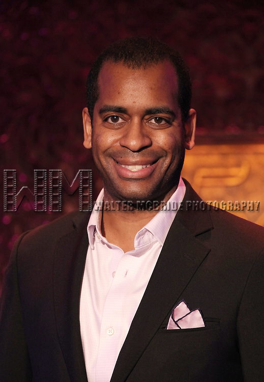 Daniel Breaker performing a press preview of her show 'On, Off and Now Under Broadway' at 54 Below in New York City on 1/15/2013
