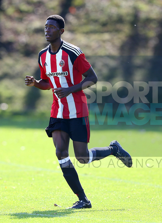 Kirmarni Smith of Sheffield Utd during the Professional Development League Two match at Shirebrook Training Complex, Sheffield. Picture date: September 13th, 2016. Pic Simon Bellis/Sportimage
