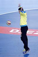 Algeria's Adel Bousmal during 23rd Men's Handball World Championship preliminary round match.January 14,2013. (ALTERPHOTOS/Acero) 7NortePhoto