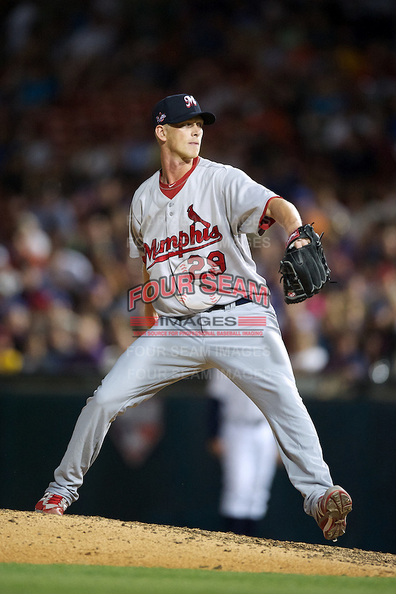 Memphis Redbirds pitcher Brandon Dickson #29 during the Triple-A All-Star game featuring the Pacific Coast League and International League top players at Coca-Cola Field on July 11, 2012 in Buffalo, New York.  PCL defeated the IL 3-0.  (Mike Janes/Four Seam Images)