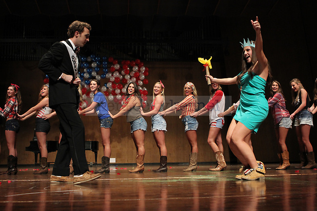 Contestant Clay O'Daniel dances in the Mr. UK 2013 pageant in the Singletary Center in Lexington Ky., on Monday, Oct., 30, 2013. Photo by Judah Taylor | Staff