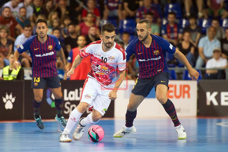 League LNFS 2018/2019.<br /> PlayOff Final. 1er. partido.<br /> FC Barcelona Lassa vs El Pozo Murcia: 7-2.<br /> Alex Yepes vs Boyis.