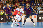 League LNFS 2018/2019.<br /> PlayOff Final. 1er. partido.<br /> FC Barcelona Lassa vs El Pozo Murcia: 7-2.<br /> Alex Yepes vs Boyis.
