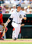 9 March 2011: Detroit Tigers' infielder Will Rhymes in action during a Spring Training game against the Philadelphia Phillies at Joker Marchant Stadium in Lakeland, Florida. The Phillies defeated the Tigers 5-3 in Grapefruit League play. Mandatory Credit: Ed Wolfstein Photo
