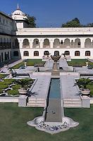 """Asie/Inde/Rajasthan/Jaipur: Patio du """"Rambagh Palace"""""""