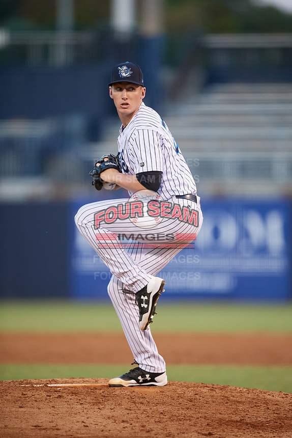 Tampa Tarpons starting pitcher Trevor Stephan (32) delivers a pitch during a game against the Daytona Tortugas on April 18, 2018 at George M. Steinbrenner Field in Tampa, Florida.  Tampa defeated Daytona 12-0.  (Mike Janes/Four Seam Images)