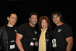 Suzanne Rogers with Mr. Romance Contestants  - Dave, Shane & Jeremy at Romantic Times Booklovers Annual Convention 2011 - The Book Industry Event of the Year - April 9, 2011 at the Westin Bonaventure, Los Angeles, California for readers, authors, booksellers, publishers, editors, agents and tomorrow's novelists - the aspiring writers. (Photo by Sue Coflin/Max Photos)