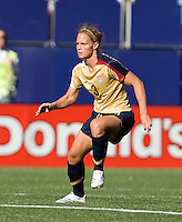 Christie Rampone readies for the ball. USA defeated Brazil 2-0 at Giants Stadium on Sunday, June 23, 2007.