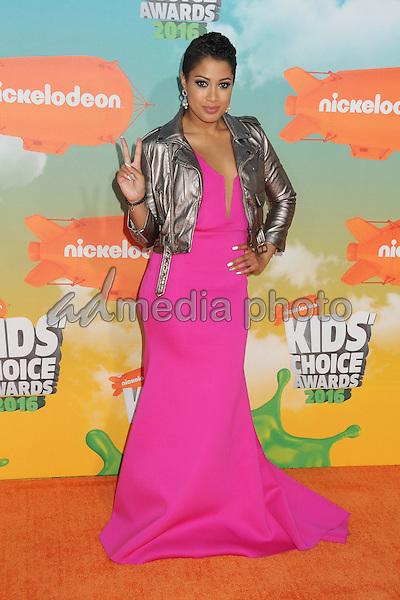 12 March 2016 - Inglewood, California - Patricia Kazadi. 2016 Nickelodeon Kids' Choice Awards held at The Forum. Photo Credit: Byron Purvis/AdMedia