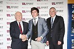 27/10/2015   With Compliments.  Attending the GAA High Performance Scholarships 2015-2016 in the Castletroy Park Hotel were Robert Frost, GAA, Munster Council Chairman who presented the Munster GAA Bursary to recipient Ian Galvin, Clonlara, Clare. Also in the photograph is UL President Professor Don Barry.  Photograph: Liam Burke/Press 22
