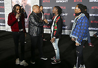 WESTWOOD, CA - DECEMBER 13: Xzibit and, Quavo, Offset, Takeoff Of  Migos, at Premiere Of Netflix's 'Bright' at The Regency Village Theatre, In Hollywood, California on December 13, 2017. Credit: Faye Sadou/MediaPunch /NortePhoto.com NORTEPHOTOMEXICO
