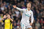 Cristiano Ronaldo of Real Madrid reacts during the Europe Champions League 2017-18 match between Real Madrid and Borussia Dortmund at Santiago Bernabeu Stadium on 06 December 2017 in Madrid Spain. Photo by Diego Gonzalez / Power Sport Images