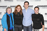 Angela Paton, Jessica Hecht, Jim Parsons & Tracee Chimo.attending the Meet & Greet for the Roundabout Theatre Company's Broadway Production of 'Harvey' at their Rehearsal Studios in New York City. 4/20/2012 © Walter McBride/WM Photography .