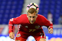 Harrison, NJ - Thursday Sept. 15, 2016: Daniel Royer prior to a CONCACAF Champions League match between the New York Red Bulls and Alianza FC at Red Bull Arena.