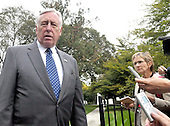 Washington, DC - October 6, 2009 -- United States House Majority Leader Steny Hoyer (Democrat of Maryland) makes remarks after meeting United States President Barack Obama on the U.S. strategy in Afghanistan on Tuesday, October 6, 2009..Credit: Ron Sachs / Pool via CNP