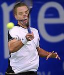 TENIS, BEOGRAD, 22. Feb. 2010. -  Viktor Troicki. Srpski teniser Viktor Troicki osvojio je MTS Open 2009. savladavsi u finalu Slovaka Dominika Hrbatija sa 2:0, po setovima 6:4, 6:2. Foto: Nenad Negovanovic