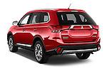 Car pictures of rear three quarter view of 2016 Mitsubishi Outlander Intense Premium 5 Door SUV Angular Rear