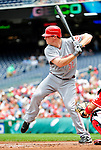 6 June 2010: Cincinnati Reds' outfielder Jay Bruce in action against the Washington Nationals at Nationals Park in Washington, DC. The Reds edged out the Nationals 5-4 in a ten inning game. Mandatory Credit: Ed Wolfstein Photo