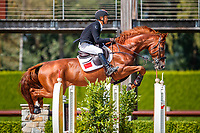 CHN-zhenqiang Li rides Uncas S during the first round. 2019 NED-FEI Olympic Qualifier for Team Jumping - Group G. Tops International Arena. Valkenswaard. Netherlands. Tuesday 13 August. Copyright Photo: Libby Law Photography